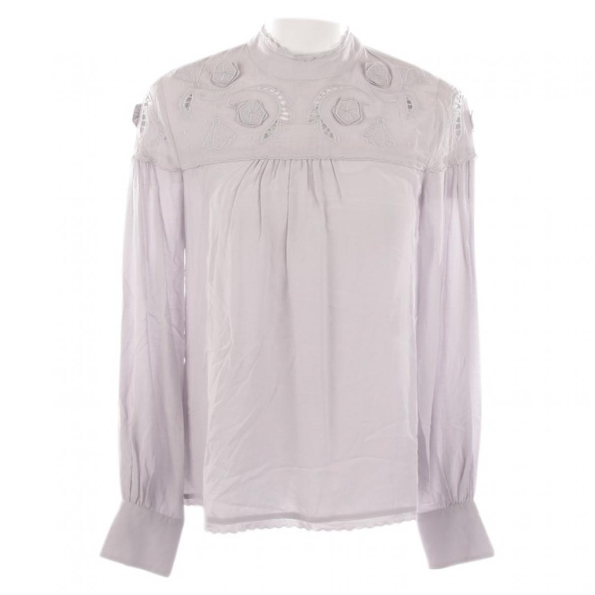 See By Chloe - Top   pour femme en coton - gris