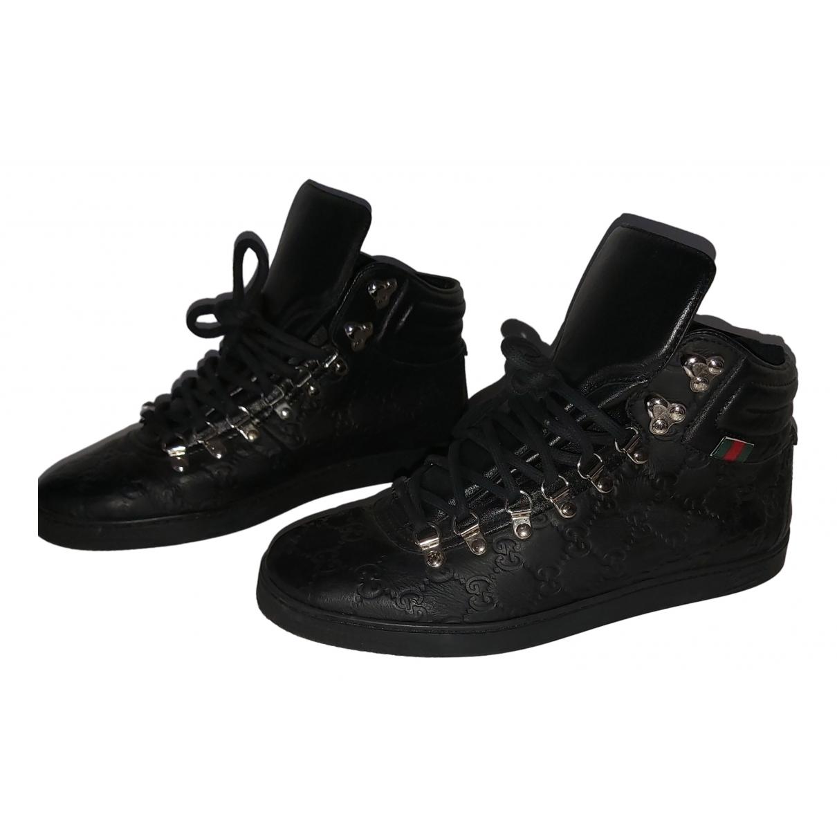 Gucci - Baskets   pour homme en cuir - noir