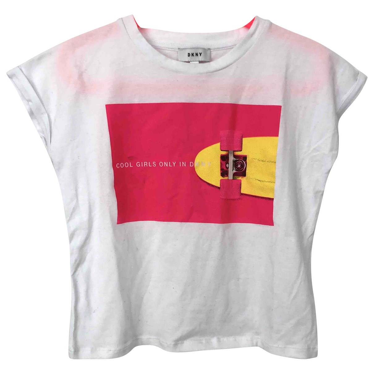 Dkny \N White Cotton  top for Kids 8 years - until 50 inches UK