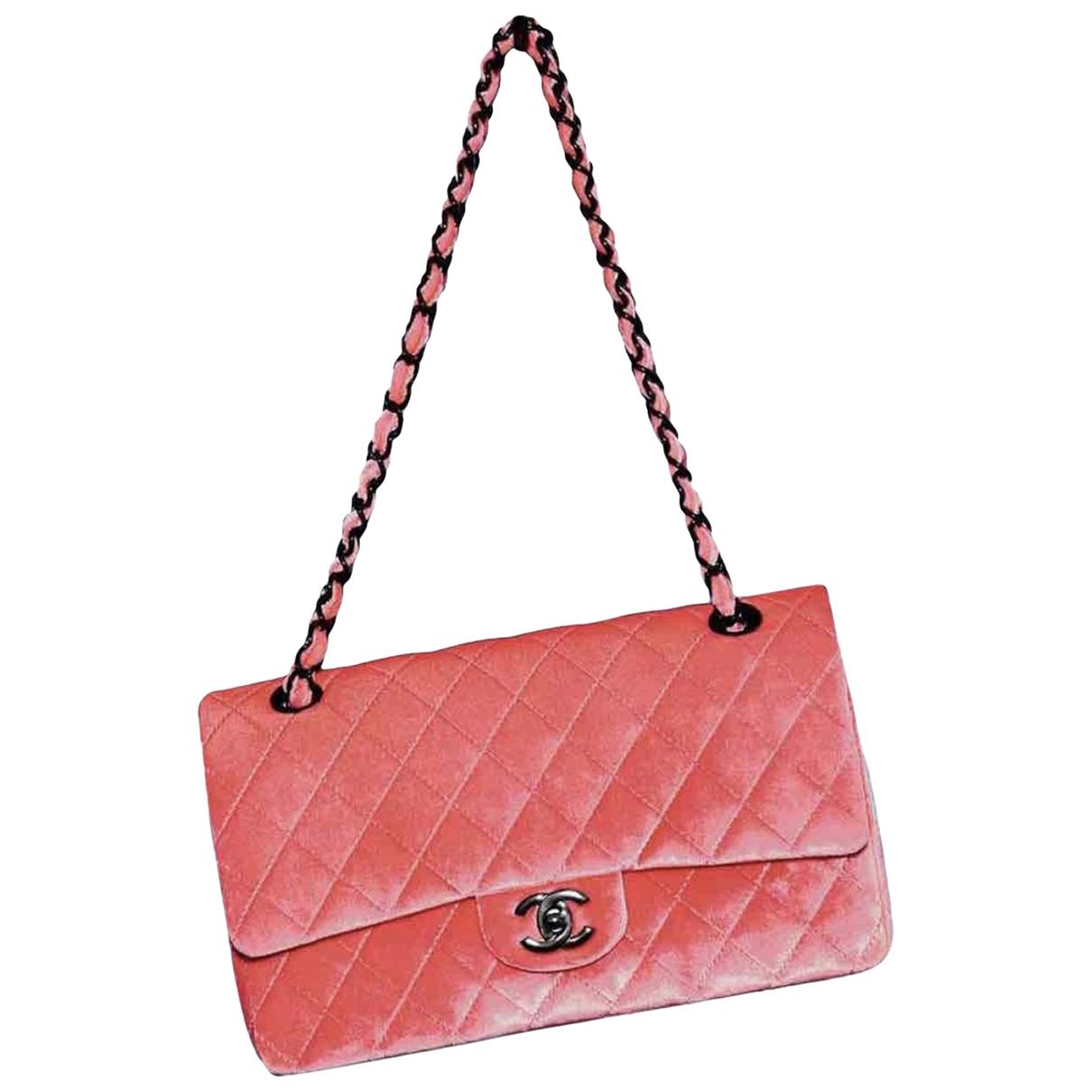 Chanel Timeless/Classique Pink Velvet handbag for Women \N
