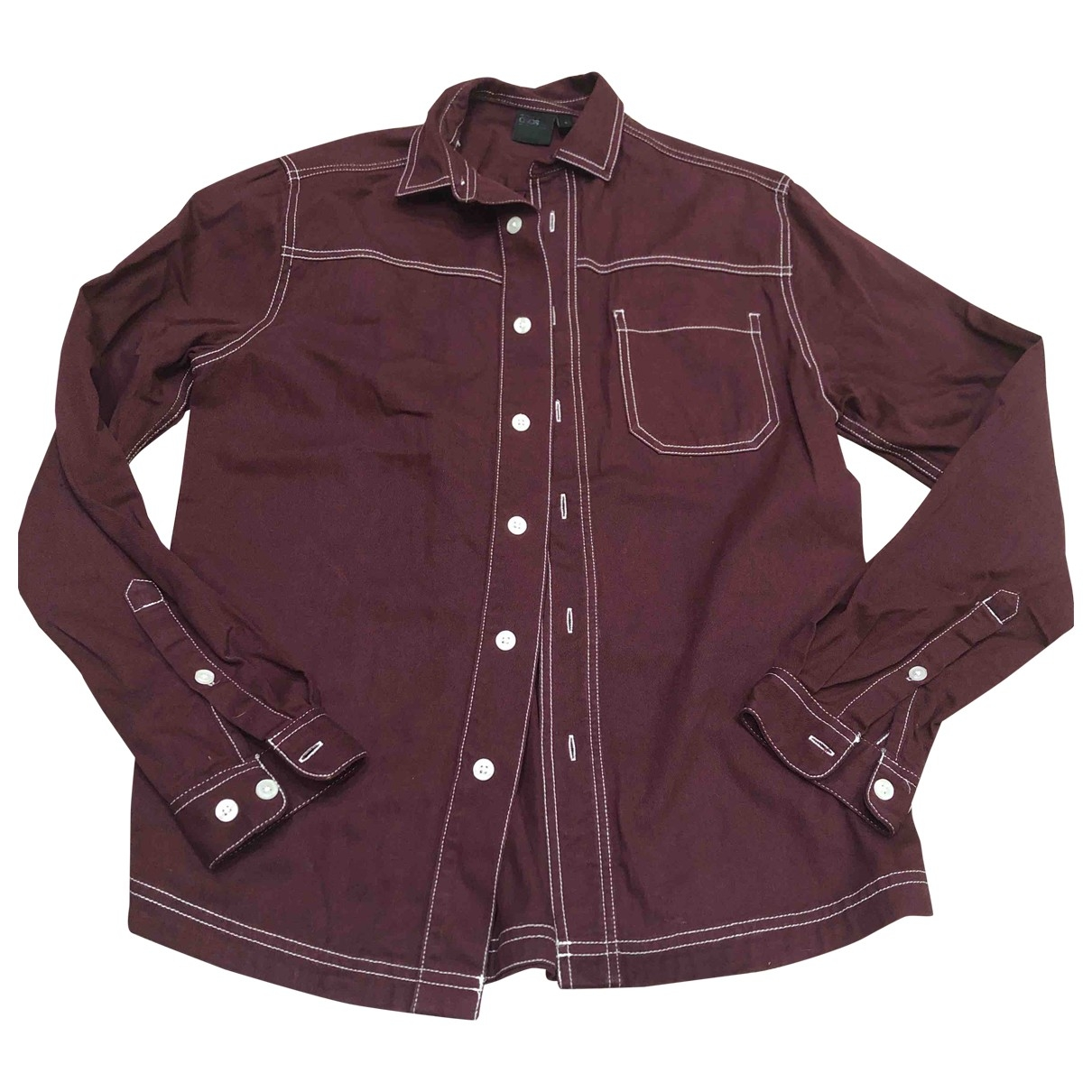Asos \N Burgundy Shirts for Men S International