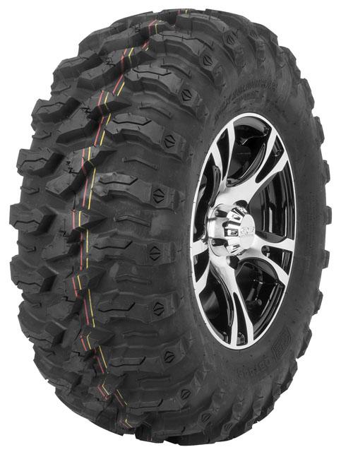 QuadBoss QBT446 Radial Utility Tires 25x10-12 Radial Rear 8 Ply Non-Directional