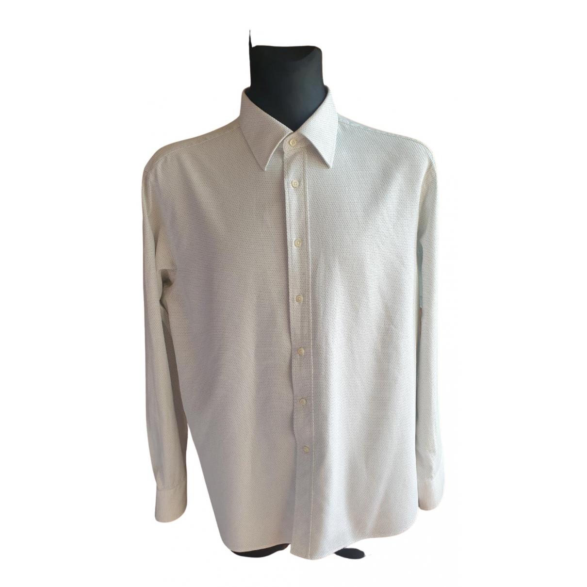 Canali - Chemises   pour homme en coton - blanc