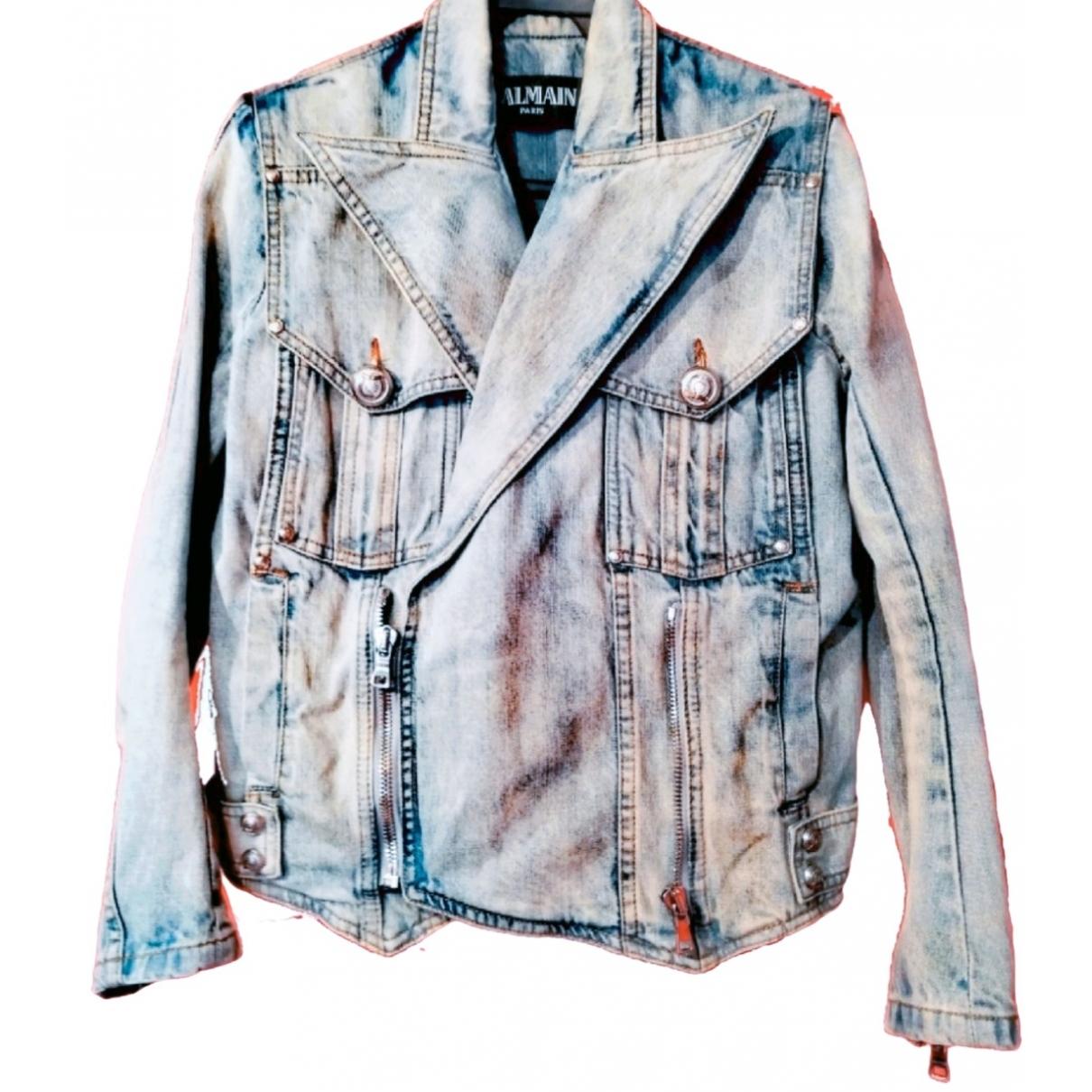 Balmain \N Blue Cotton jacket for Women 40 FR