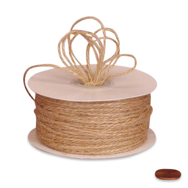 Natural Jute Twine 1.5mm X 100 Yards by Ribbons.com
