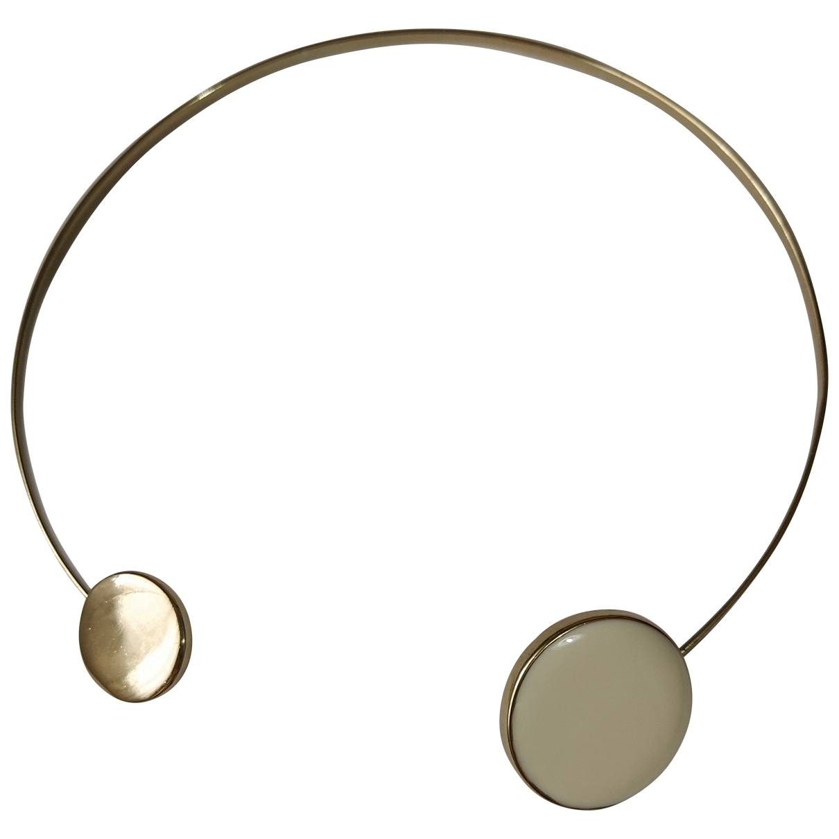 Non Signe / Unsigned Toi & Moi Kette in  Gold Metall