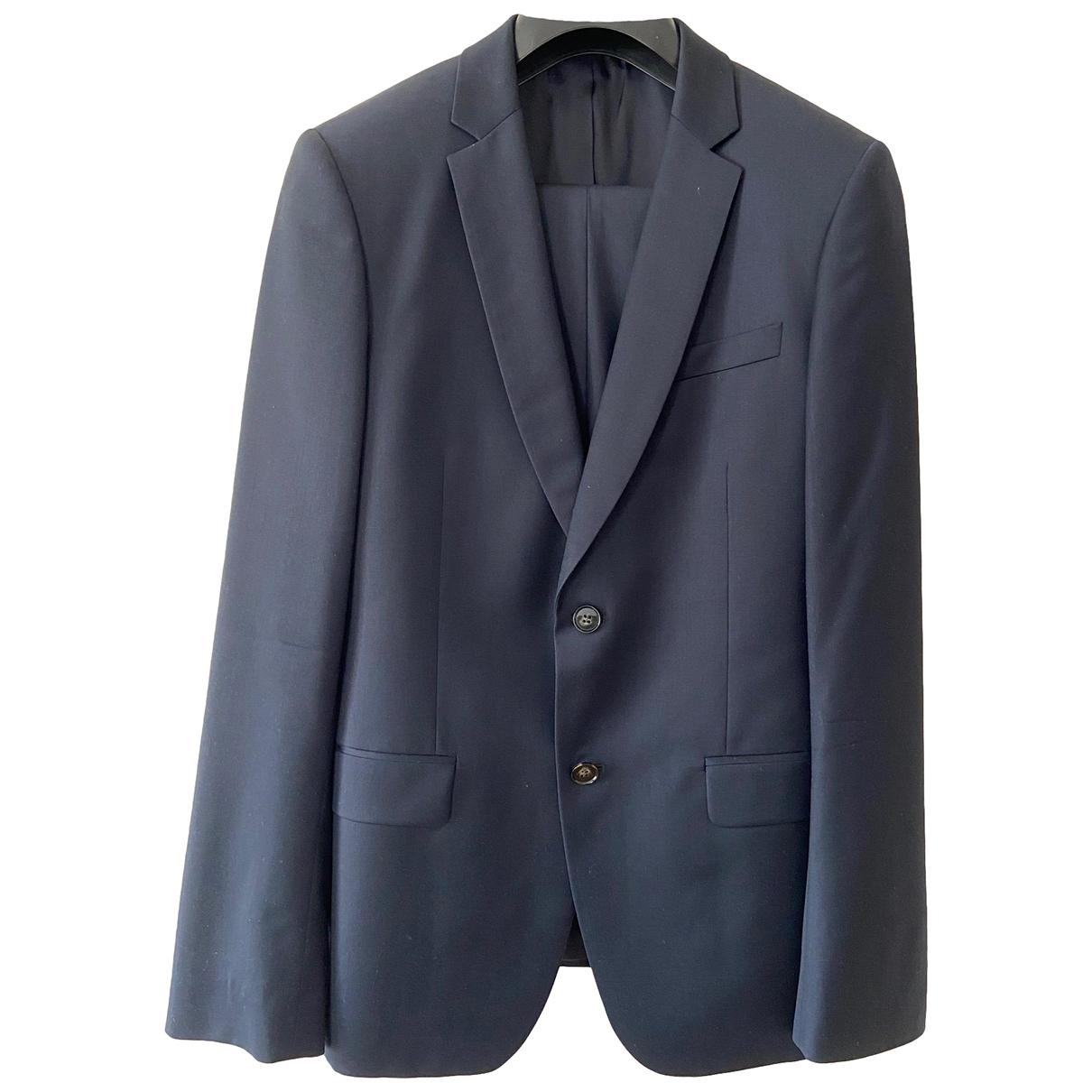 De Fursac \N Anzuege in  Blau Wolle