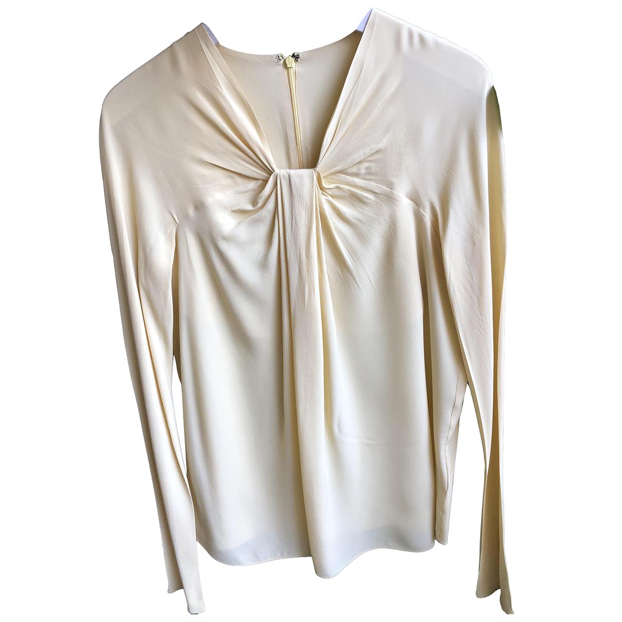 N°21 - Top   pour femme en soie - jaune