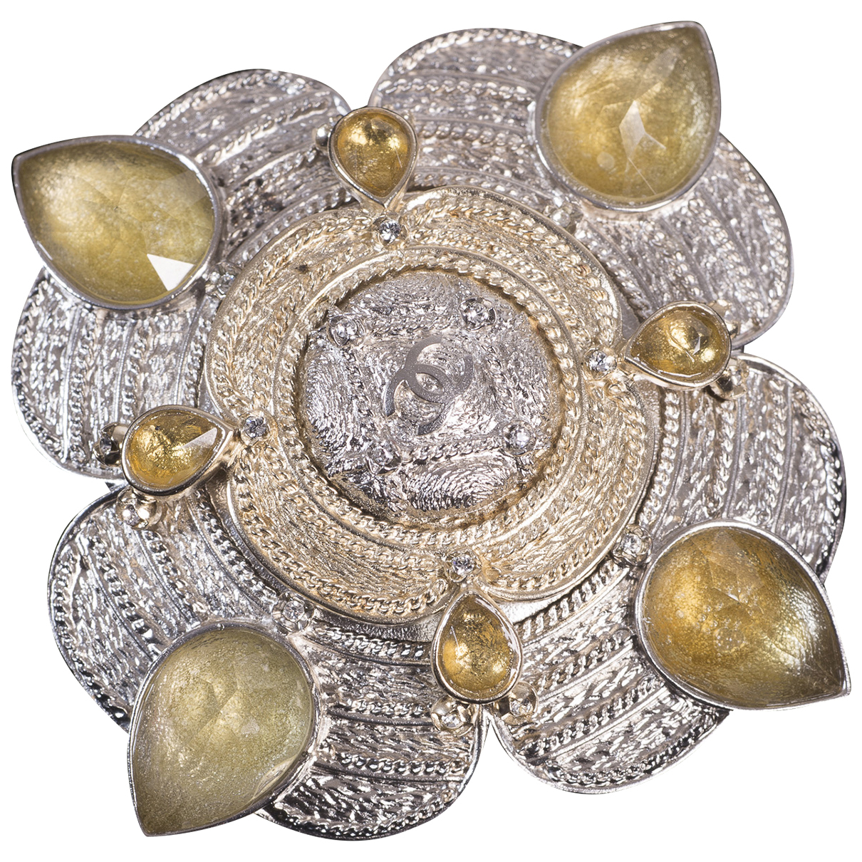 Chanel - Broche Camelia pour femme en metal - metallise