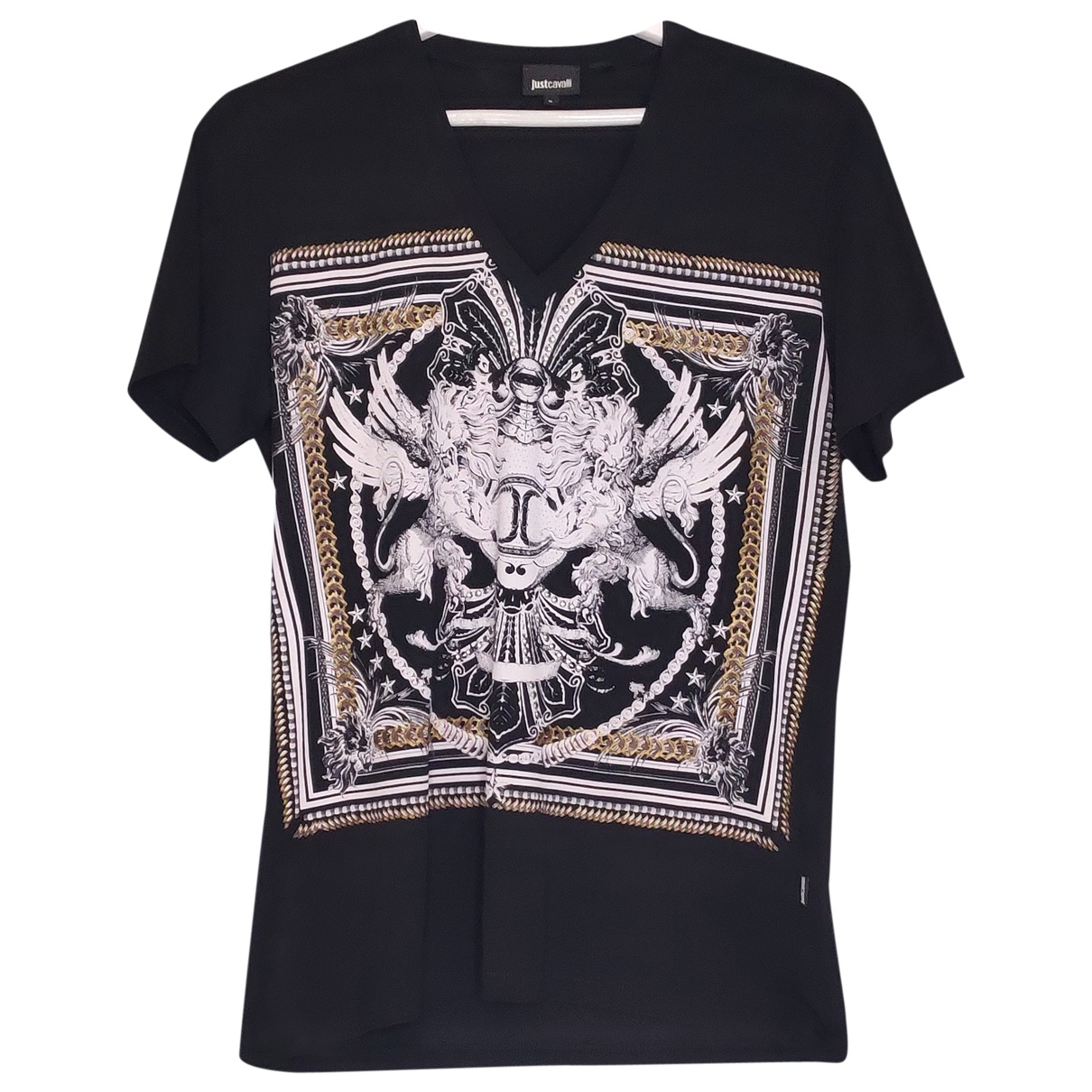 Roberto Cavalli \N Black Cotton T-shirts for Men S International