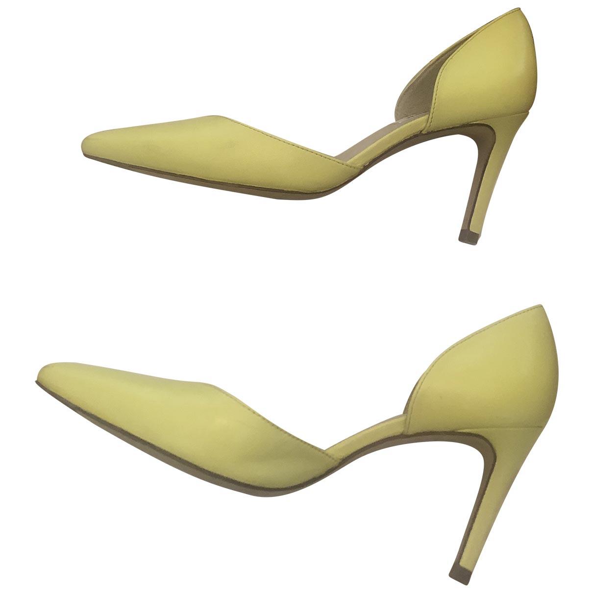 Lk Bennett \N Yellow Leather Heels for Women 38 EU