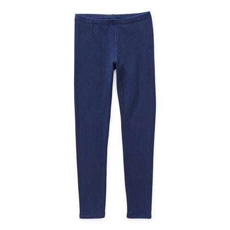 Arizona Fleece Lined Girls Full Length Leggings, X-large (18.5) Plus , Blue