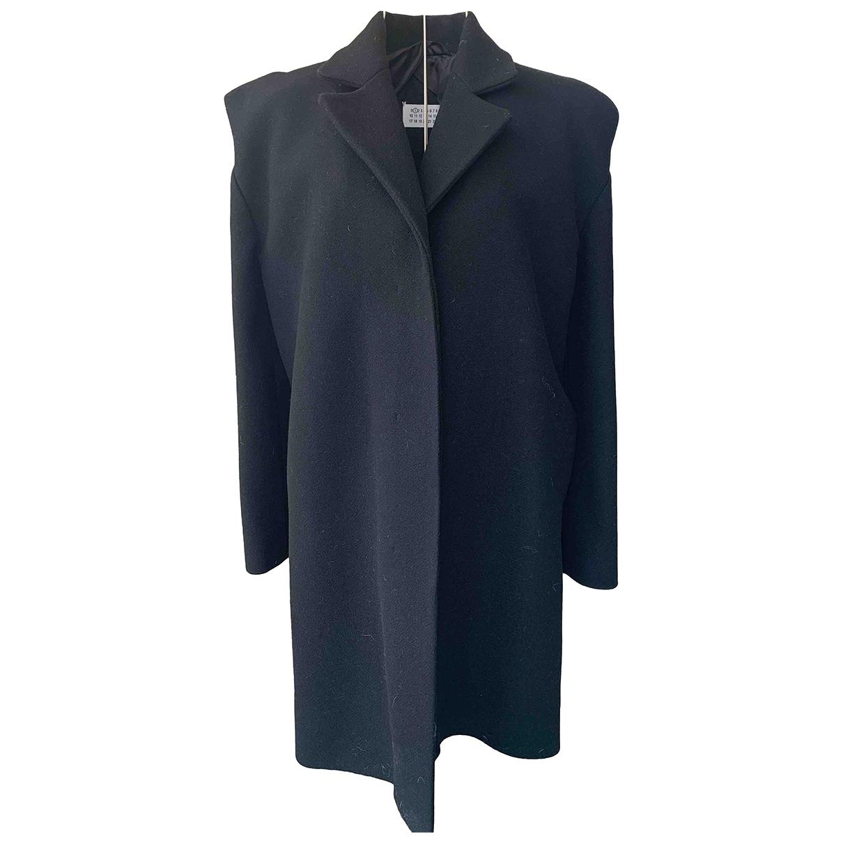 Maison Martin Margiela - Manteau   pour femme en laine - noir