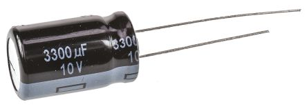 Panasonic 3300μF Electrolytic Capacitor 10V dc, Through Hole - EEUFR1A332 (5)