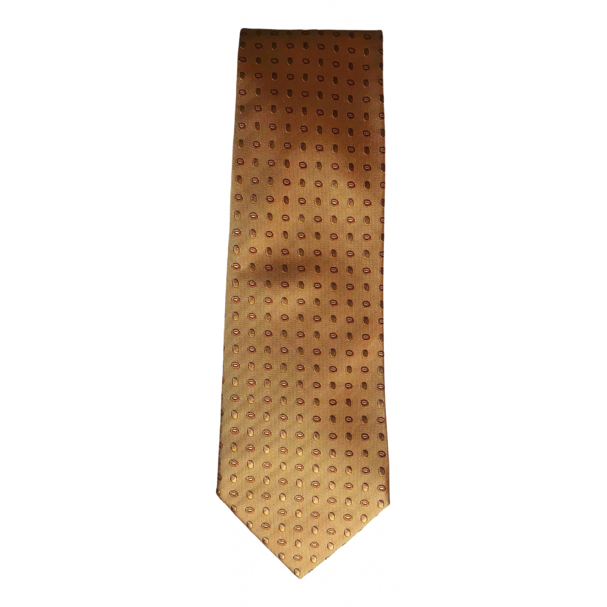 Salvatore Ferragamo \N Gold Silk Ties for Men \N