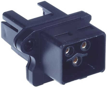 HARTING Heavy Duty Power Connector, Han Push Pull 3 Way Female 16A Connector Kit, includes Housing, Insulation Body