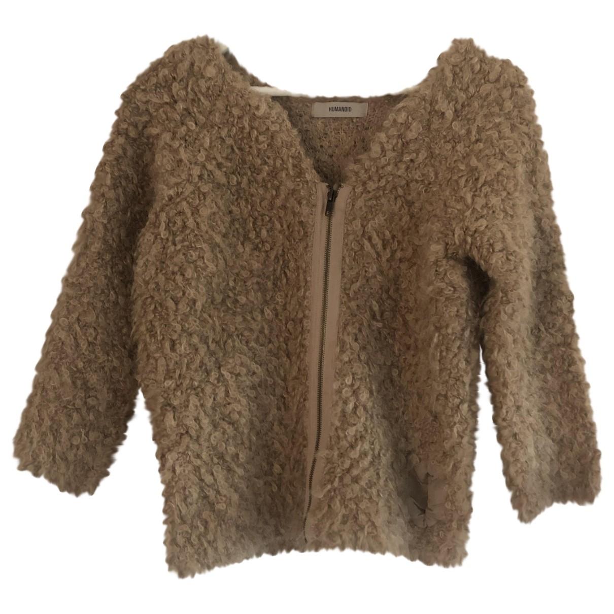 Humanoid - Veste   pour femme en laine - rose