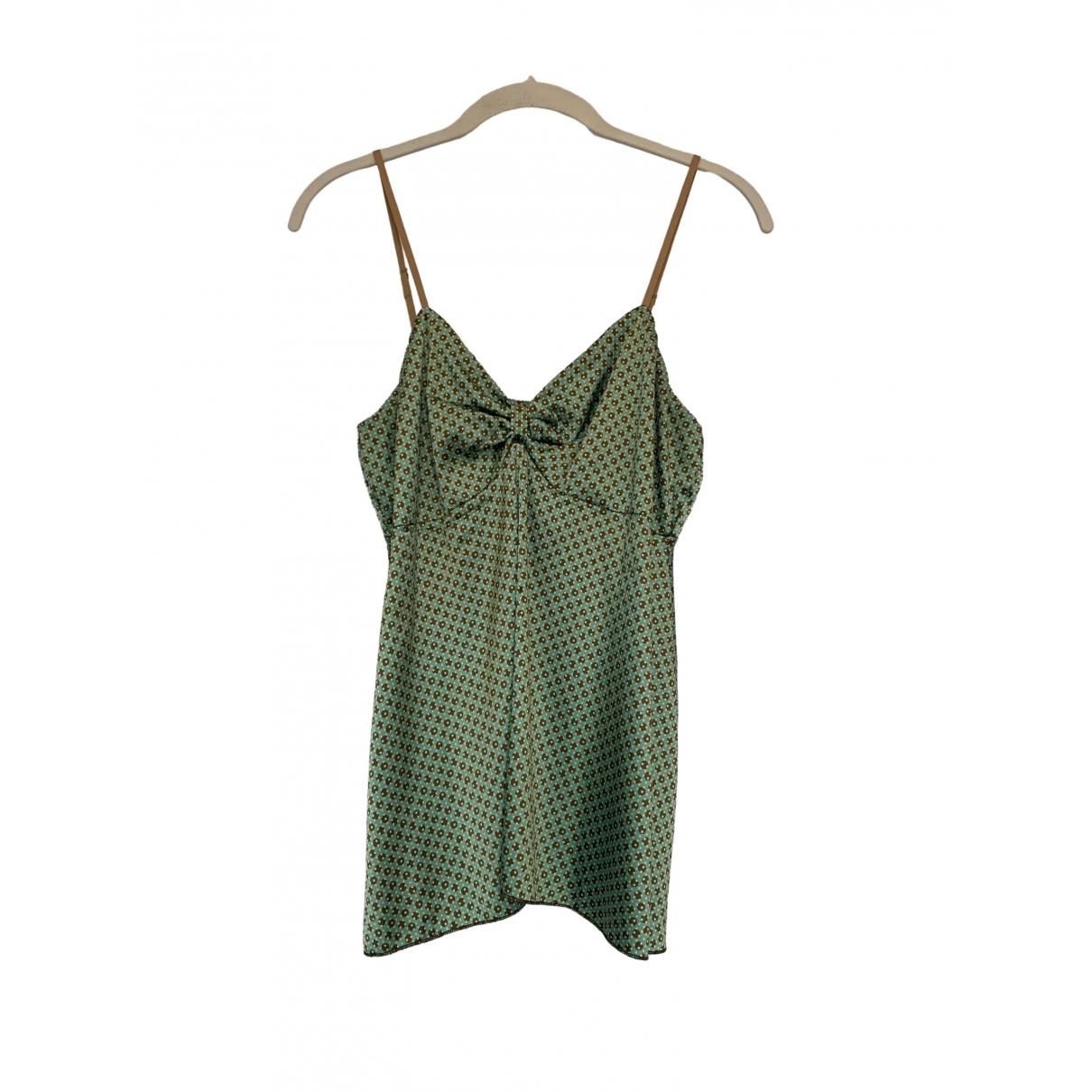 Rozae Nichols - Top   pour femme en soie - vert