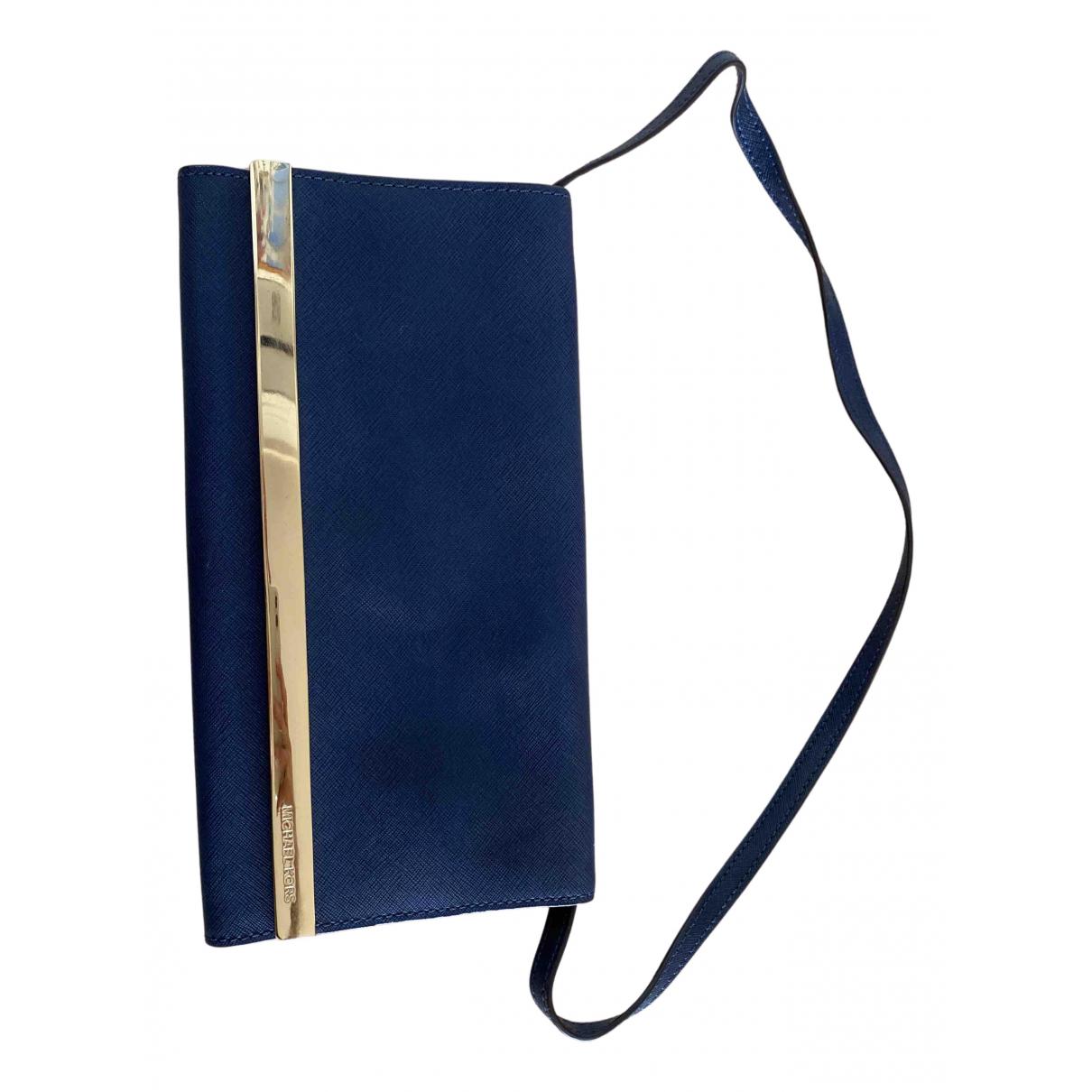Michael Kors - Pochette   pour femme en cuir - bleu