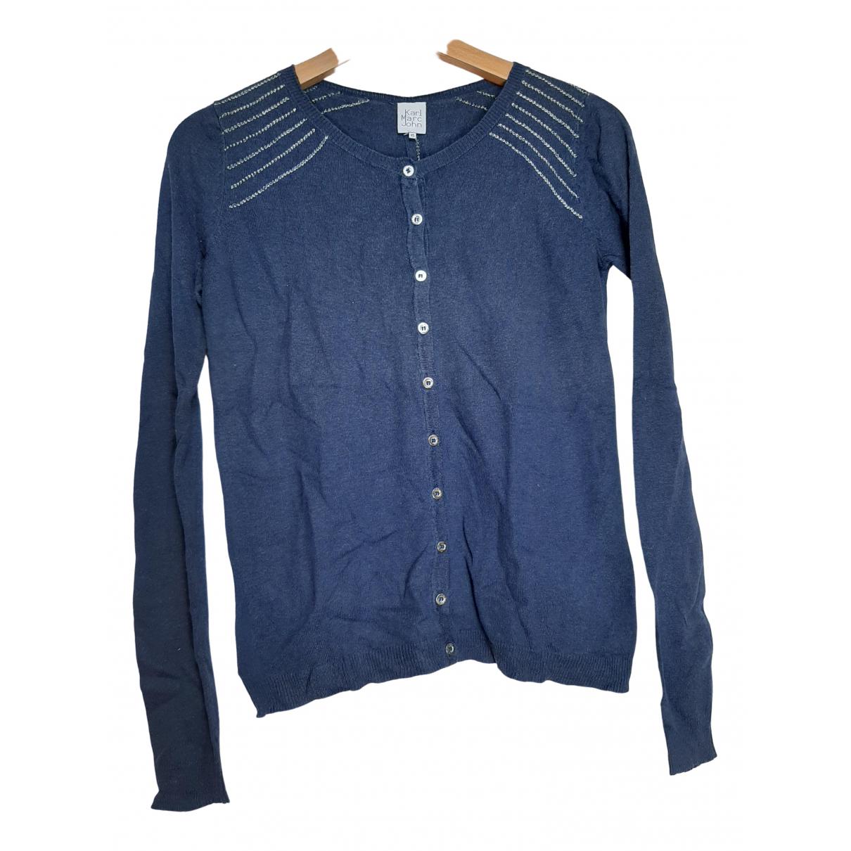 Karl Marc John \N Blue Cotton Knitwear for Women 34 FR