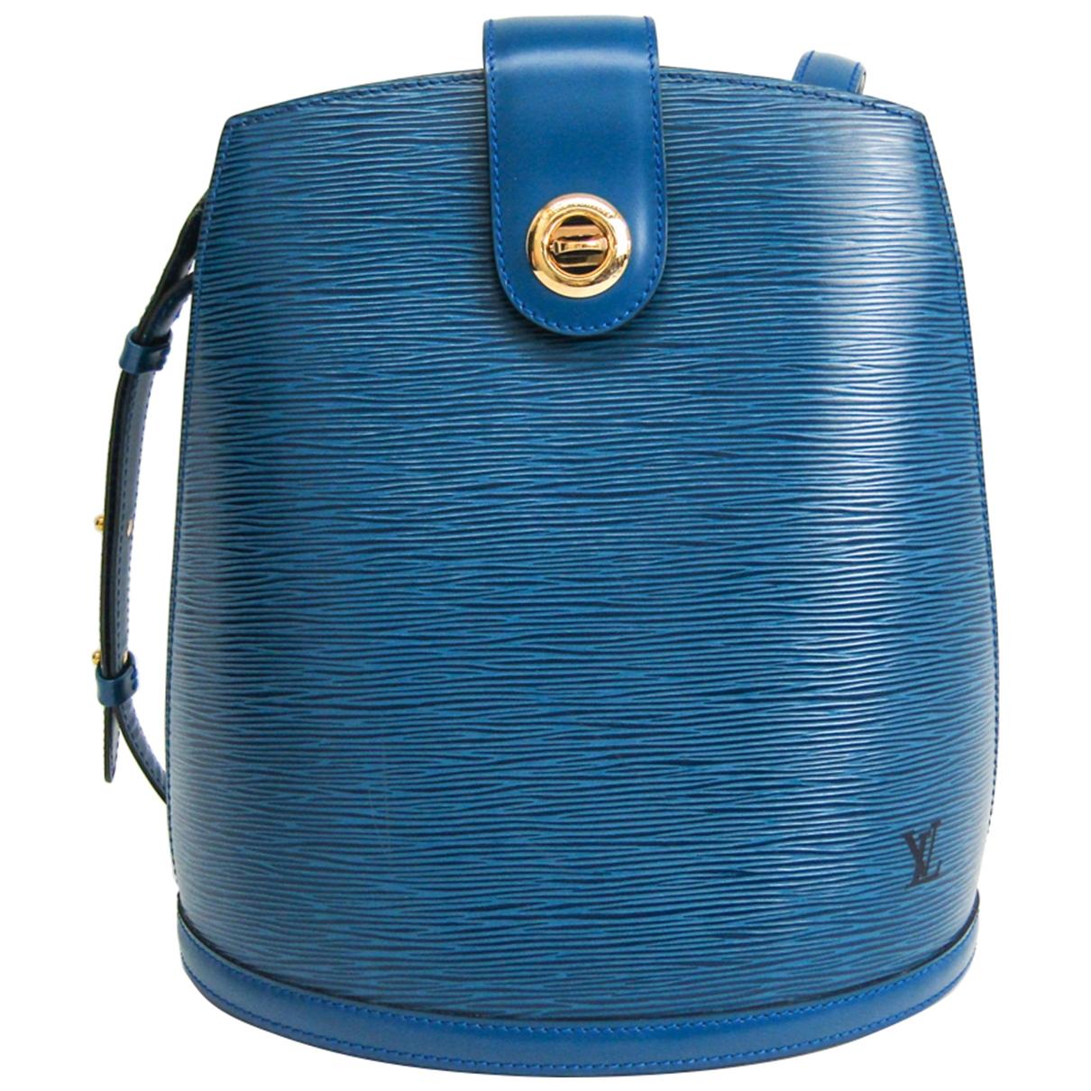 Louis Vuitton Cluny Vintage Blue Leather handbag for Women \N