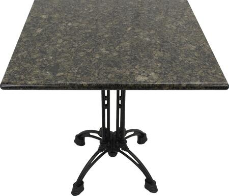 G203 30X30-CA18-27H 30x30 Uba Tuba Granite Tabletop with 20