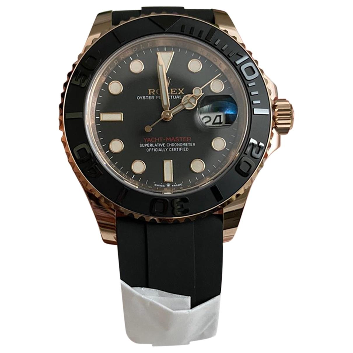 Rolex - Montre Yacht-Master pour homme en or rose - dore