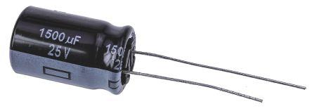 Panasonic 1500μF Electrolytic Capacitor 25V dc, Through Hole - EEUFR1E152 (5)