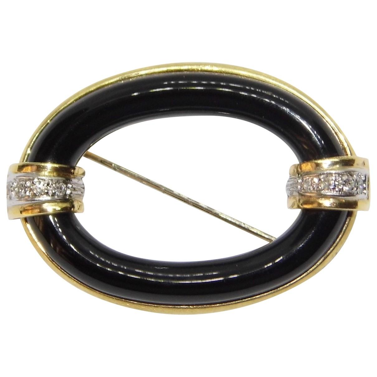 Broche Art Deco de Oro amarillo Non Signe / Unsigned