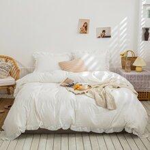 Set ropa de cama ribete con fruncido sin relleno