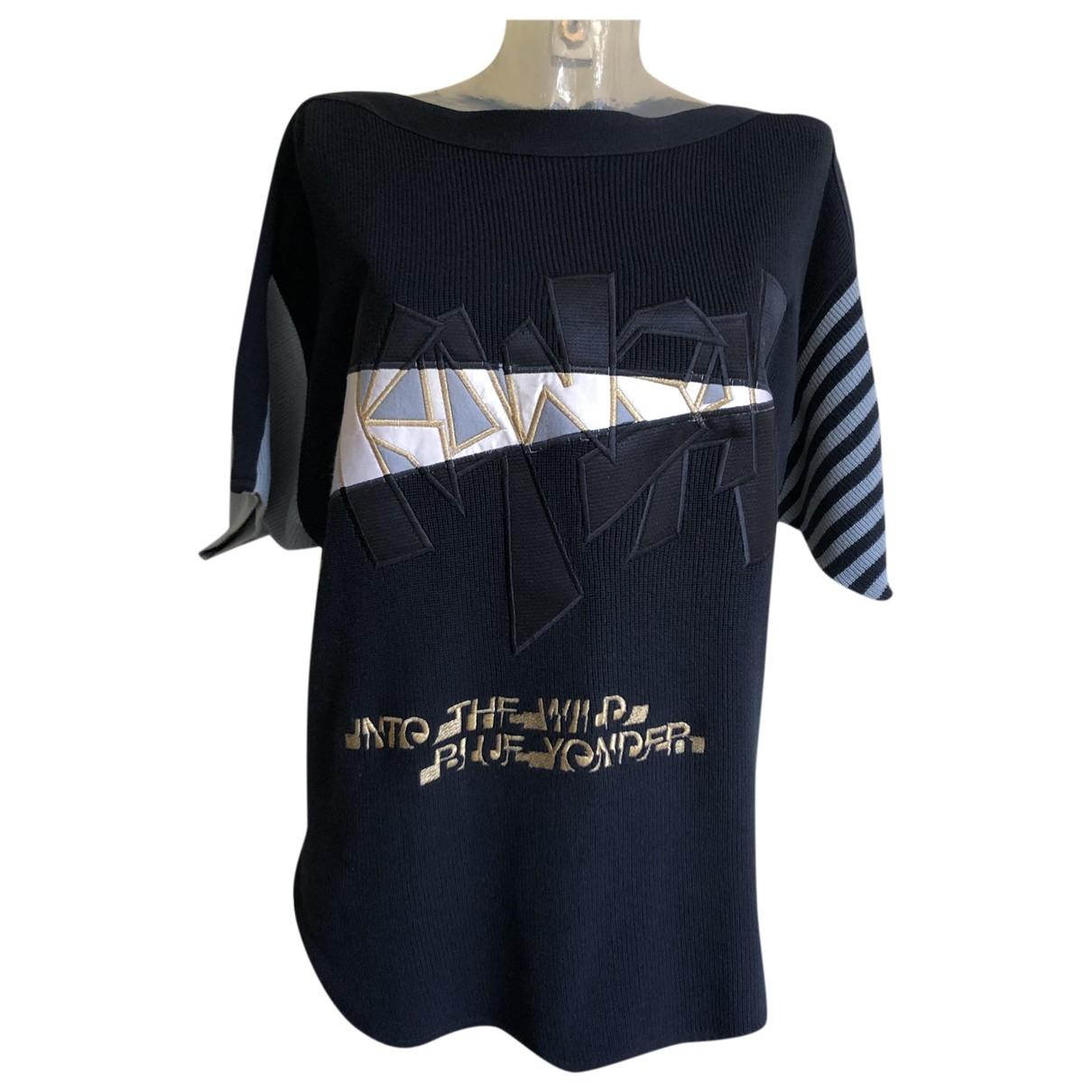 Kansai Yamamoto - Pull   pour femme en coton - bleu