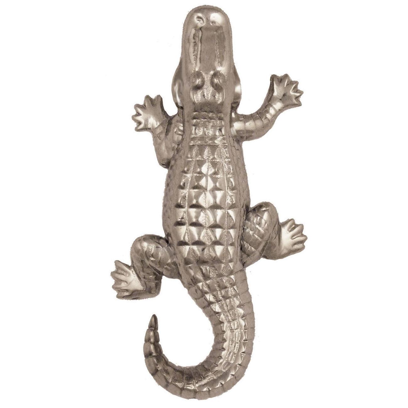 Alligator Doorbell Ringer - Nickel Silver