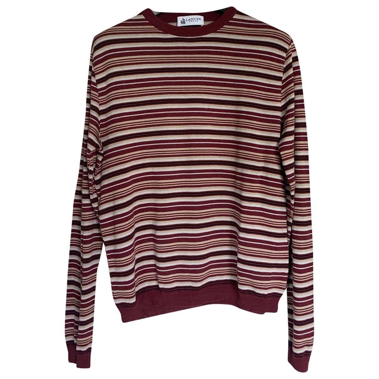 Lanvin \N Pullover.Westen.Sweatshirts  in  Rot Seide