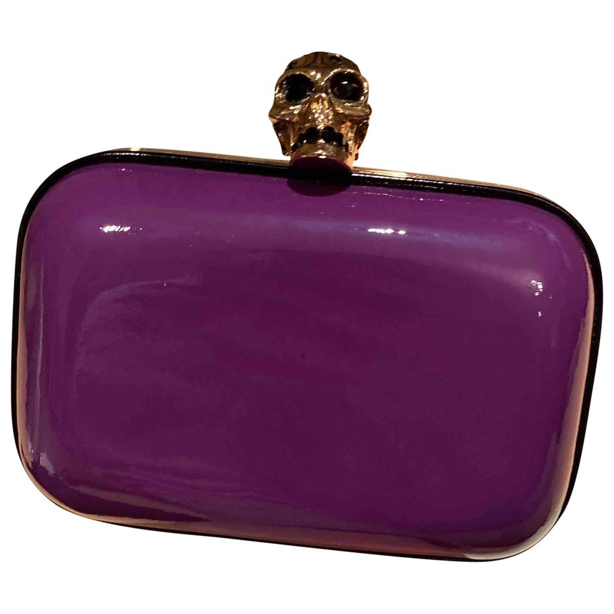 Alexander Mcqueen - Pochette   pour femme en cuir - violet