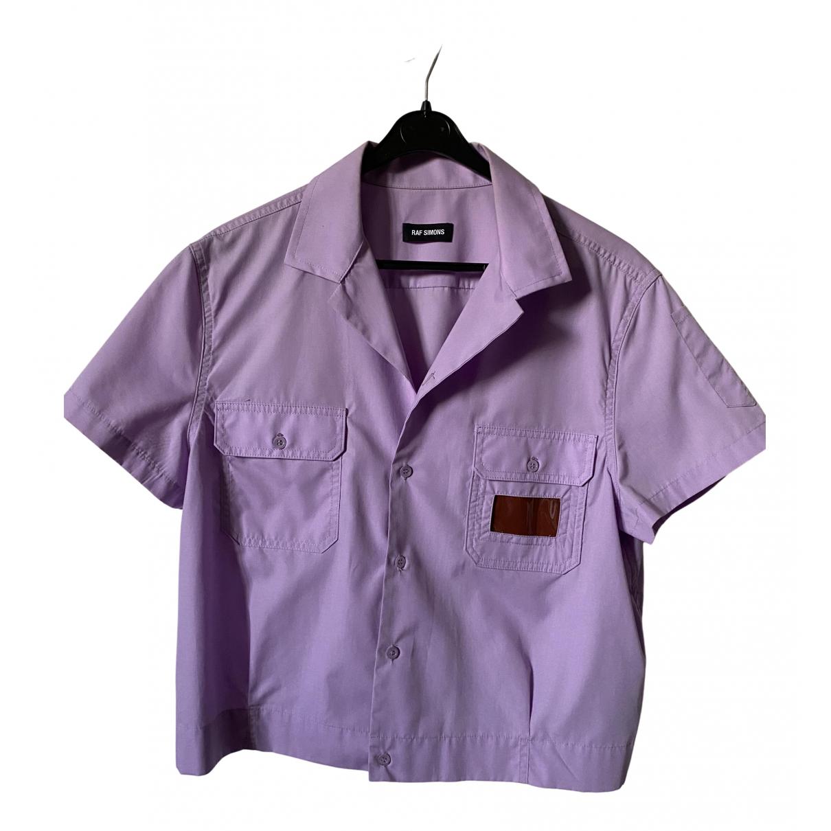 Raf Simons - Chemises   pour homme en coton - violet