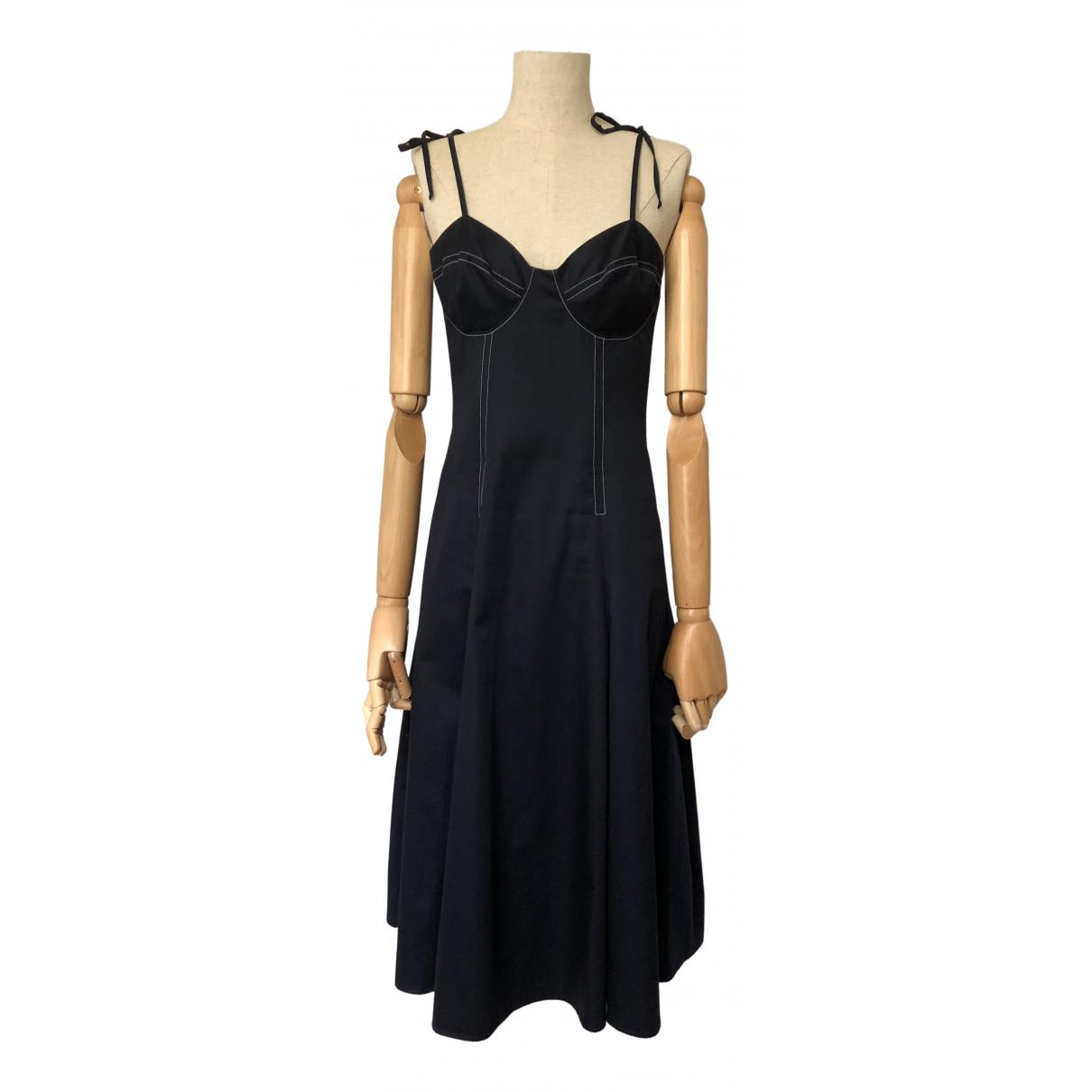 Anna Quan \N Kleid in  Marine Baumwolle