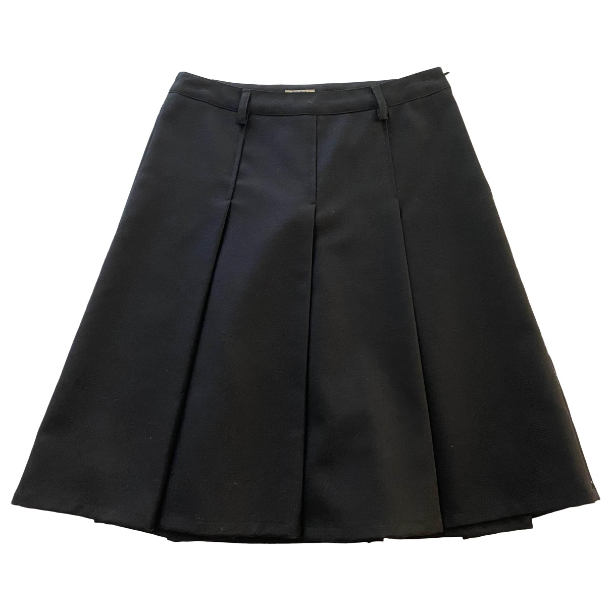 Miu Miu \N Black Wool skirt for Women 40 IT