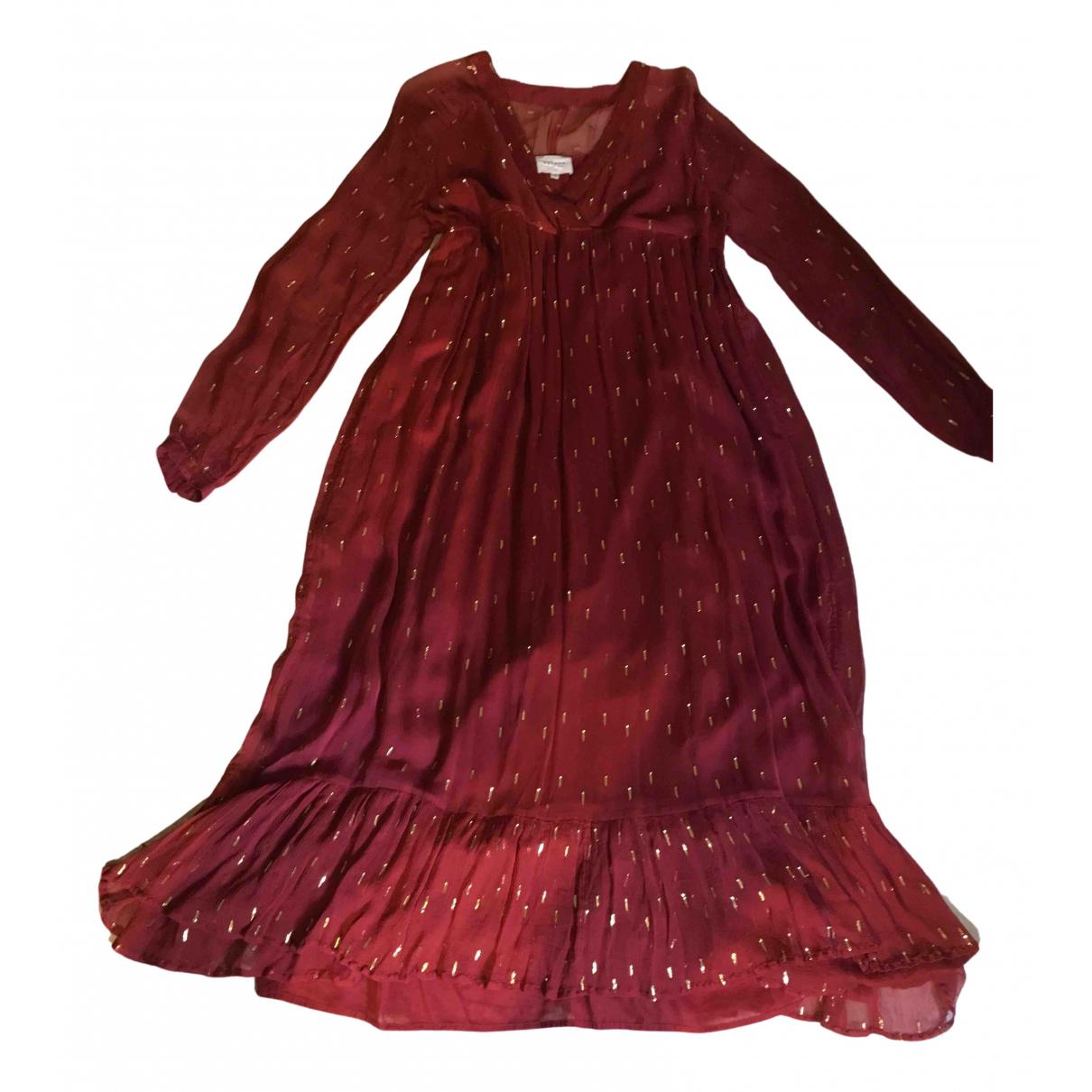 Sezane \N Kleid in  Rot Viskose