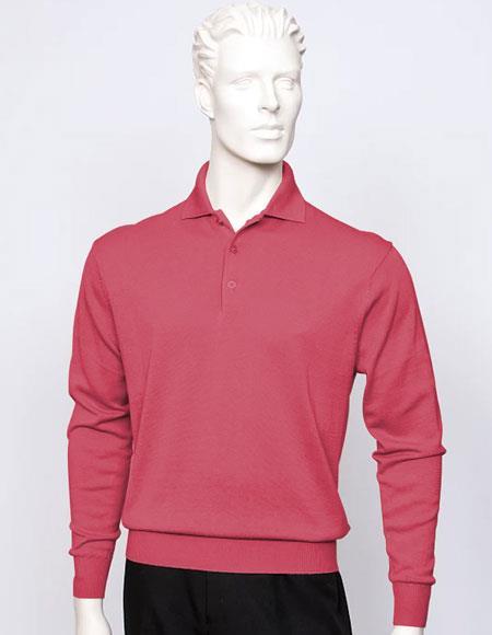 Tulliano mens long sleeve silk/cotton fine gauge knitwear