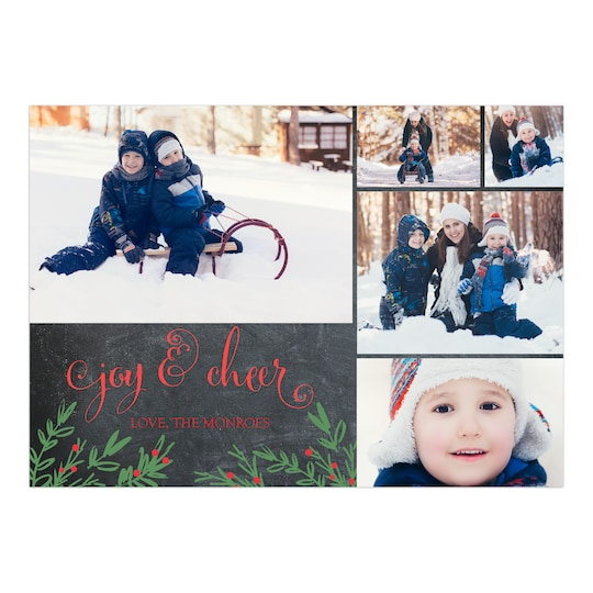 Gartner Studios® Personalized Rustic Sprigs Holiday Photo Card   Michaels®