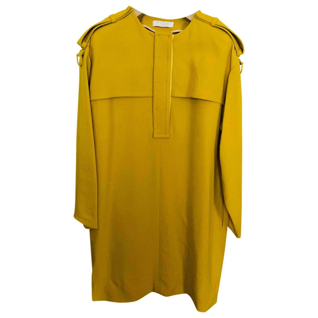 Chloe \N Kleid in  Gelb Polyester