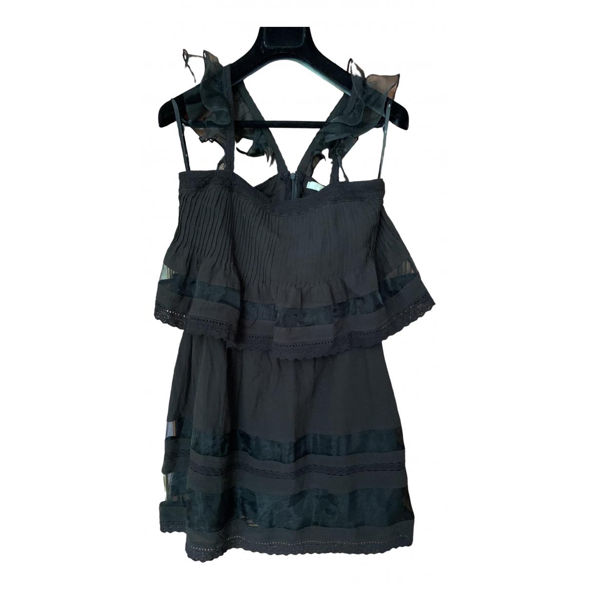 Non Signé / Unsigned \N Black Cotton dress for Women XS International