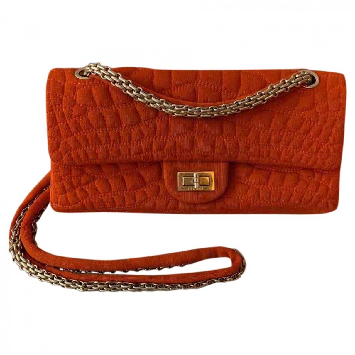 Chanel 2.55 Handtasche in  Rot Baumwolle