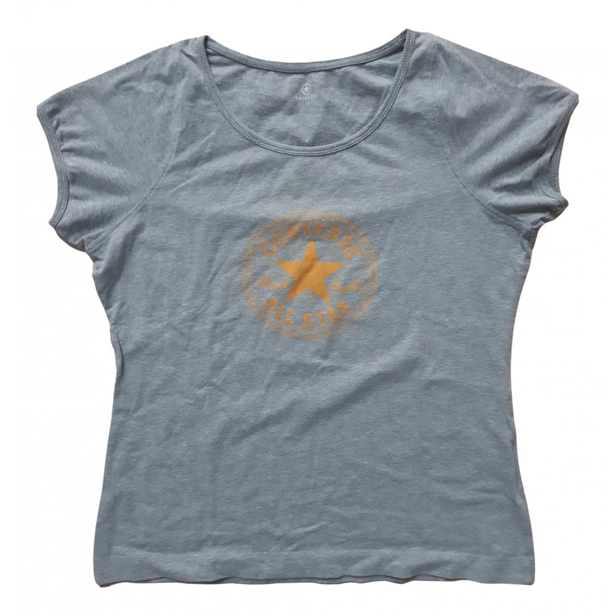 Converse - Top   pour femme en coton - gris