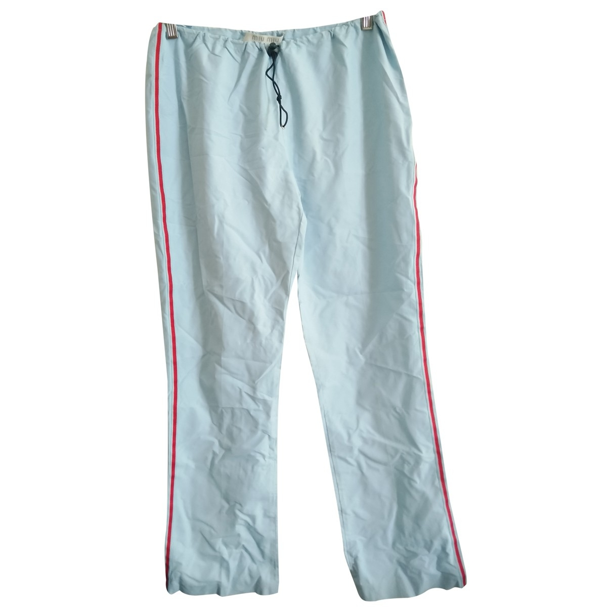 Miu Miu \N Blue Trousers for Women 44 IT