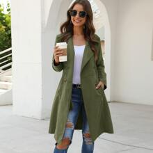 Double Breasted Pocket Side Coat