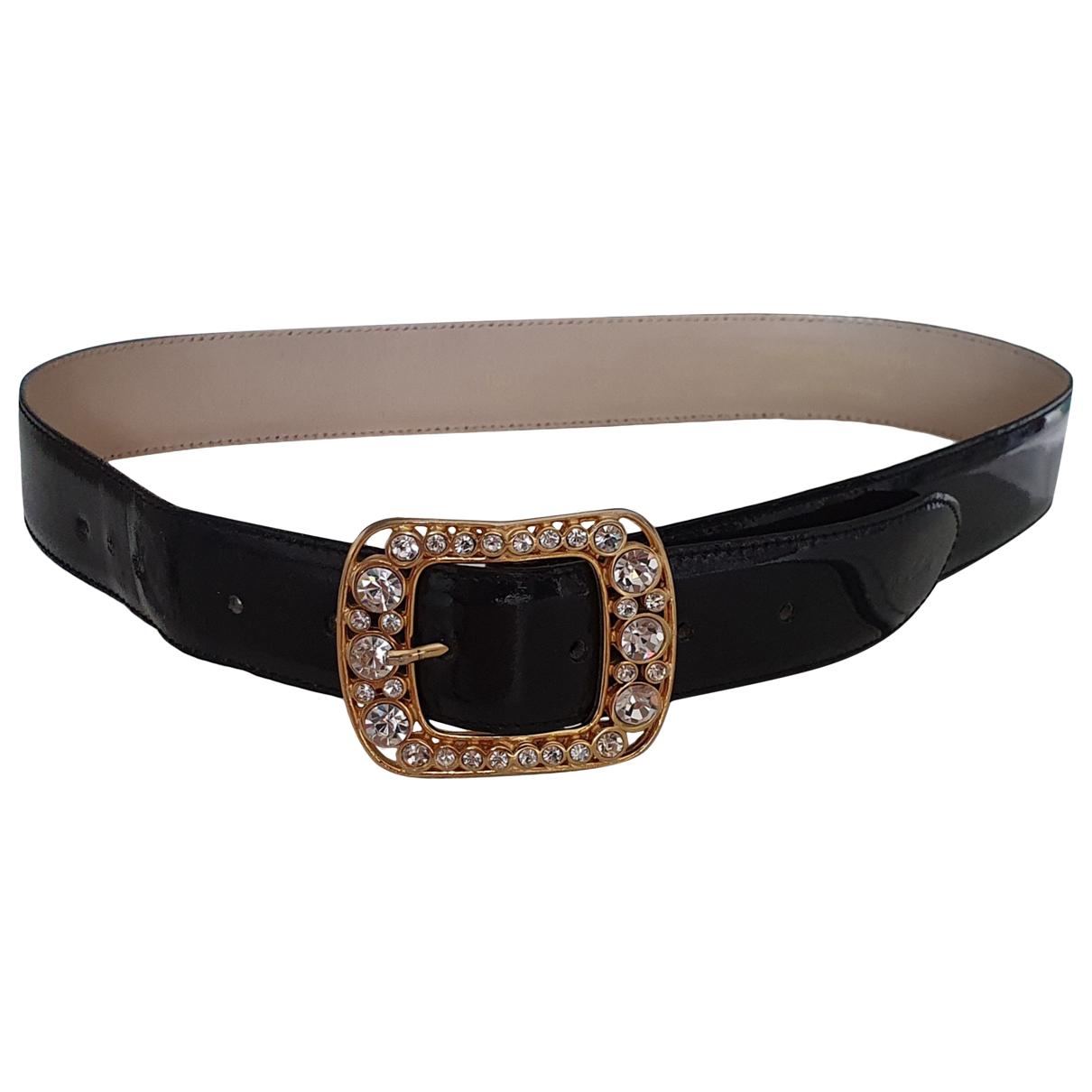 Pierre Cardin \N Black Patent leather belt for Women 80 cm