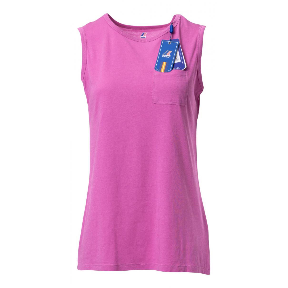 K-way - Top   pour femme en coton - rose
