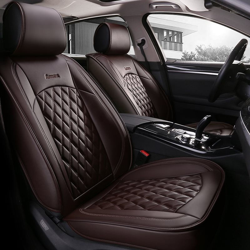 Durable Leather Material Soft Smooth And Scratch-Resistant Unfading 5 Seats Universal Fit Seat Covers Suitable For Most Cars
