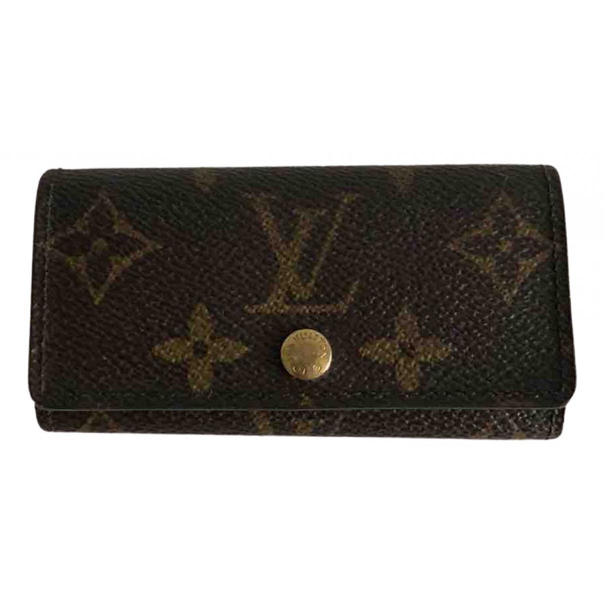 Louis Vuitton \N Brown Cloth Small bag, wallet & cases for Men \N